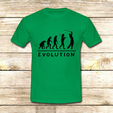 Golf Evolution funny on T shirt S / Green / Men, tshirt - fixcenters, fixcenters  - 3
