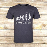 Golf Evolution funny on T shirt S / Grey / Men, tshirt - fixcenters, fixcenters  - 5