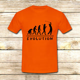 Golf Evolution funny on T shirt S / Orange / Men, tshirt - fixcenters, fixcenters  - 6