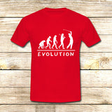 Golf Evolution funny on T shirt S / Red / Men, tshirt - fixcenters, fixcenters  - 7