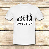 Golf Evolution funny on T shirt S / White / Men, tshirt - fixcenters, fixcenters  - 4