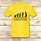 Golf Evolution funny on T shirt S / Yellow / Men, tshirt - fixcenters, fixcenters  - 8