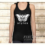 Harry Styles Butterfly One Direction on Tank Top Apparel S / Black / Men, Tank Top - fixcenters, fixcenters  - 1