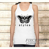 Harry Styles Butterfly One Direction on Tank Top Apparel S / White / Men, Tank Top - fixcenters, fixcenters  - 2