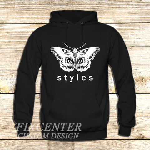 Harry Styles tattoo Butterfly One Direction on Hoodie Jacket XS / Black, hoodie - fixcenters, fixcenters  - 1