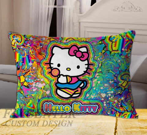 "Hello Kitty on Rectangle Pillow Cover 20"" X 26"" / one side, Rectangle Pillow Case - fixcenters, fixcenters"