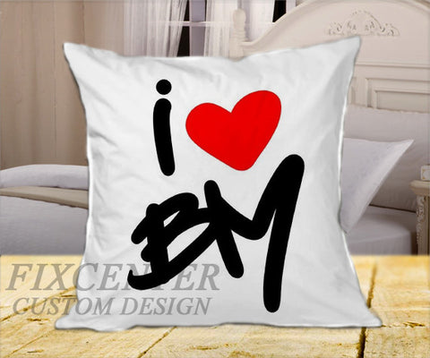 "I Love Bruno Mars  on Square Pillow Cover 16"" X 16"" / one side, Square Pillow Case - fixcenters, fixcenters"