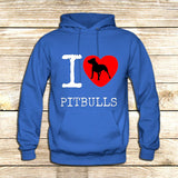I Love Pit Bulls on Hoodie Jacket XS / Blue, hoodie - fixcenters, fixcenters  - 2