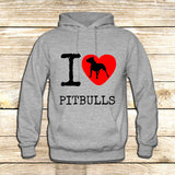 I Love Pit Bulls on Hoodie Jacket XS / Grey, hoodie - fixcenters, fixcenters  - 3