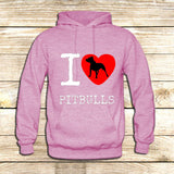 I Love Pit Bulls on Hoodie Jacket XS / Pink, hoodie - fixcenters, fixcenters  - 4