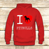 I Love Pit Bulls on Hoodie Jacket XS / Red, hoodie - fixcenters, fixcenters  - 5