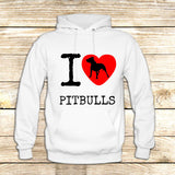 I Love Pit Bulls on Hoodie Jacket XS / White, hoodie - fixcenters, fixcenters  - 6