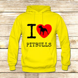 I Love Pit Bulls on Hoodie Jacket XS / Yellow, hoodie - fixcenters, fixcenters  - 7