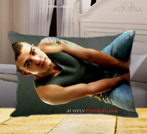 "JUSTIN TIMBERLAKE on Rectangle Pillow Cover 20"" X 26"" / one side, Rectangle Pillow Case - fixcenters, fixcenters"