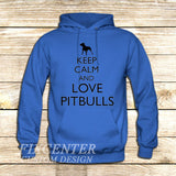 Keep Calm and Love Pitbulls on Hoodie Jacket XS / Blue, hoodie - fixcenters, fixcenters  - 2