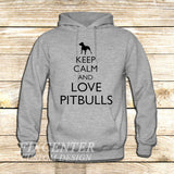 Keep Calm and Love Pitbulls on Hoodie Jacket XS / Grey, hoodie - fixcenters, fixcenters  - 3