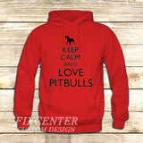 Keep Calm and Love Pitbulls on Hoodie Jacket XS / Red, hoodie - fixcenters, fixcenters  - 5