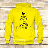 Keep Calm and Love Pitbulls on Hoodie Jacket XS / Yellow, hoodie - fixcenters, fixcenters  - 7