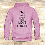 Keep Calm and Love Pitbulls on Hoodie Jacket XS / Pink, hoodie - fixcenters, fixcenters  - 4