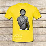 Lil Wayne on T shirt S / Yellow / Men, tshirt - fixcenters, fixcenters  - 8