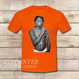 Lil Wayne on T shirt S / Orange / Men, tshirt - fixcenters, fixcenters  - 6