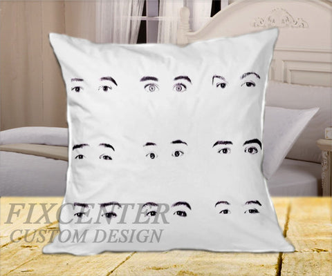 "Mag Famous Boy Band Eyes on Square Pillow Cover 16"" X 16"" / one side, Square Pillow Case - fixcenters, fixcenters"