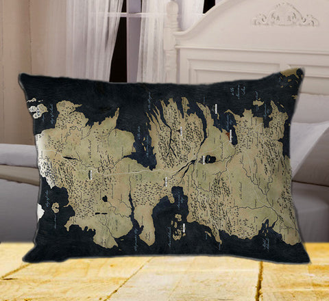"Map Game of Thrones on Rectangle Pillow Cover 20"" X 26"" / one side, Rectangle Pillow Case - fixcenters, fixcenters"
