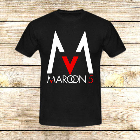 Maroon 5 Logo on T shirt S / Black / Men, tshirt - fixcenters, fixcenters  - 1