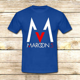 Maroon 5 Logo on T shirt S / Blue / Men, tshirt - fixcenters, fixcenters  - 2