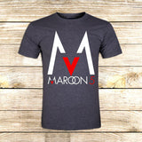 Maroon 5 Logo on T shirt S / Grey / Men, tshirt - fixcenters, fixcenters  - 5