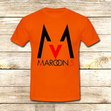 Maroon 5 Logo on T shirt S / Orange / Men, tshirt - fixcenters, fixcenters  - 6
