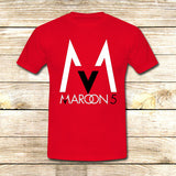 Maroon 5 Logo on T shirt S / Red / Men, tshirt - fixcenters, fixcenters  - 7