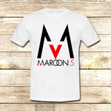Maroon 5 Logo on T shirt S / White / Men, tshirt - fixcenters, fixcenters  - 4
