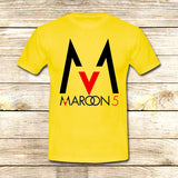 Maroon 5 Logo on T shirt S / Yellow / Men, tshirt - fixcenters, fixcenters  - 8