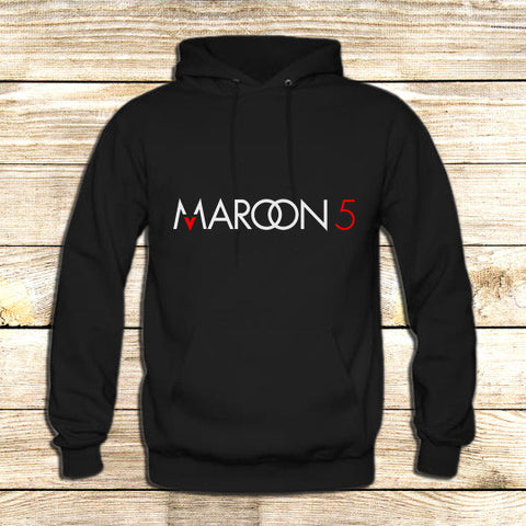 Maroon 5 Typography on Hoodie Jacket XS / Black, hoodie - fixcenters, fixcenters  - 1