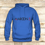 Maroon 5 Typography on Hoodie Jacket XS / Blue, hoodie - fixcenters, fixcenters  - 2