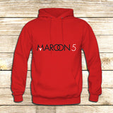Maroon 5 Typography on Hoodie Jacket XS / Red, hoodie - fixcenters, fixcenters  - 5