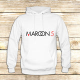 Maroon 5 Typography on Hoodie Jacket XS / White, hoodie - fixcenters, fixcenters  - 6