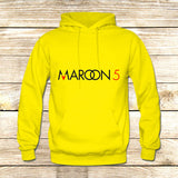 Maroon 5 Typography on Hoodie Jacket XS / Yellow, hoodie - fixcenters, fixcenters  - 7