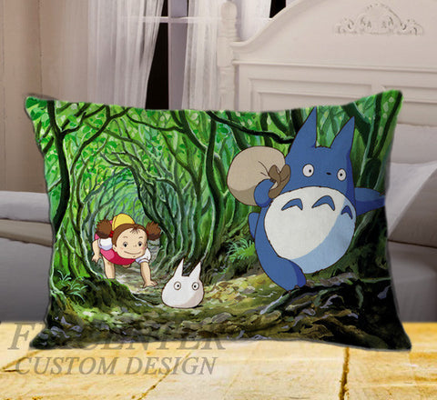 "My Neighbor Totor Picture on Rectangle Pillow Cover 20"" X 26"" / one side, Rectangle Pillow Case - fixcenters, fixcenters"
