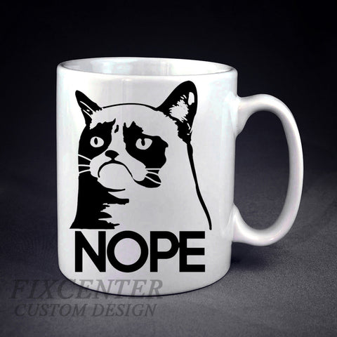 NOPE Grumpy Cat Personalized mug/cup , mug / cup - fixcenters, fixcenters  - 1