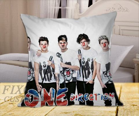 "One Direction Red Nose on Square Pillow Cover 16"" X 16"" / one side, Square Pillow Case - fixcenters, fixcenters"