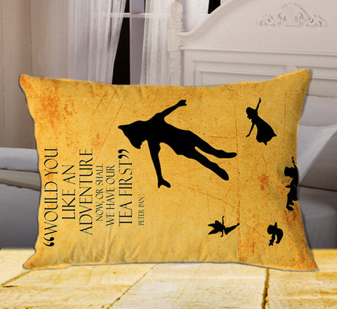 "Peter Pan Quote on Rectangle Pillow Cover 20"" X 26"" / one side, Rectangle Pillow Case - fixcenters, fixcenters"
