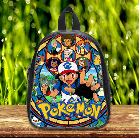 Pokemon Stained Glass cute Pre-School Backpack - School Bag Small (S) / Black, School Bag - fixcenters, fixcenters  - 1