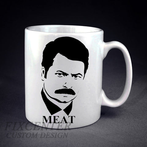 Ron Swanson  Face Personalized mug/cup , mug / cup - fixcenters, fixcenters  - 1