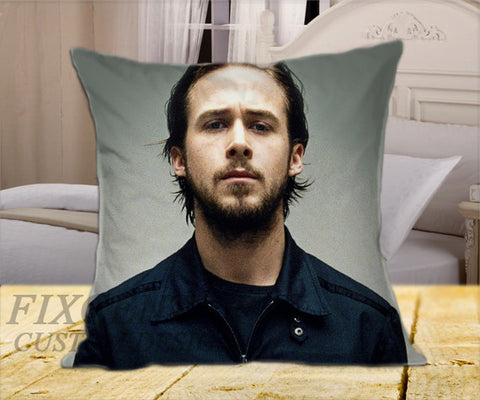 "Ryan Gosling Style on Square Pillow Cover 16"" X 16"" / one side, Square Pillow Case - fixcenters, fixcenters"