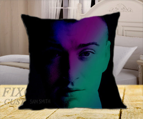 "Sam Smith Blurry on Square Pillow Cover 16"" X 16"" / one side, Square Pillow Case - fixcenters, fixcenters"