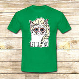 Sulk Cat Elsa Let it go on T shirt S / Green / Men, tshirt - fixcenters, fixcenters  - 3