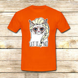 Sulk Cat Elsa Let it go on T shirt S / Orange / Men, tshirt - fixcenters, fixcenters  - 6