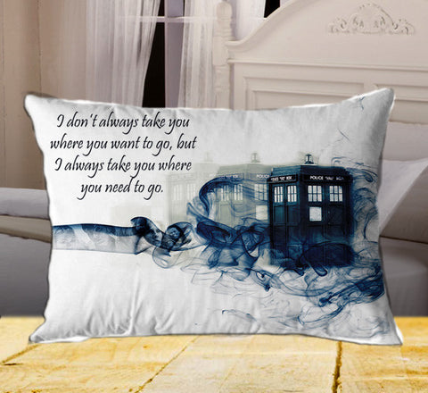 "Tardis Doctor Who Smoke on Rectangle Pillow Cover 20"" X 26"" / one side, Rectangle Pillow Case - fixcenters, fixcenters"